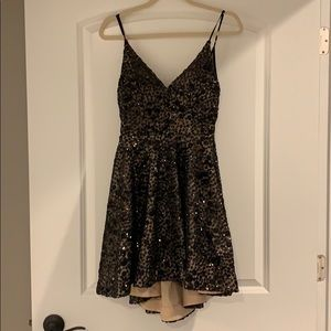 Black and Tan cocktail dress size 7